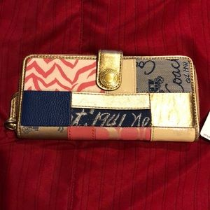 Coach patchwork leather wallet